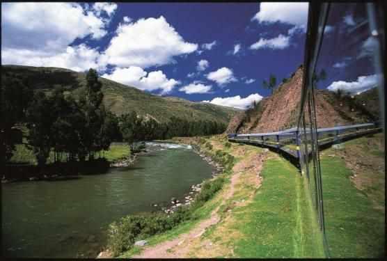 Vue depuis le train Pérou bas