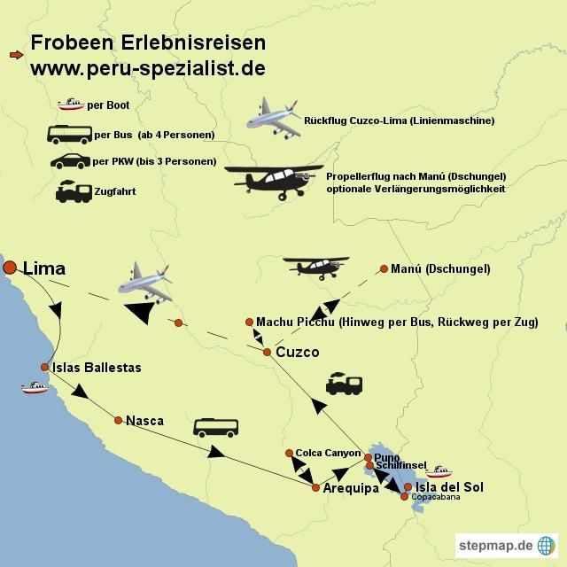 carte stepmap pérou bolivie anniversaire voyage avec extension parc national de manu 1216959 8 bas
