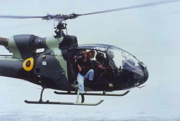 Produzione di immagini di elicotteri RTL